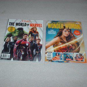 2 Marvel & DC Comics magazines